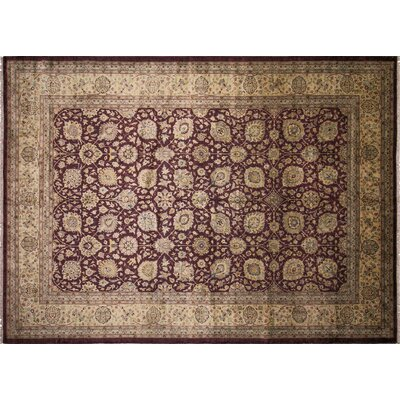 Ankara Juldiz Hand Knotted Wool Aubergine Area Rug Rug Size: Rectangle 101x 1310