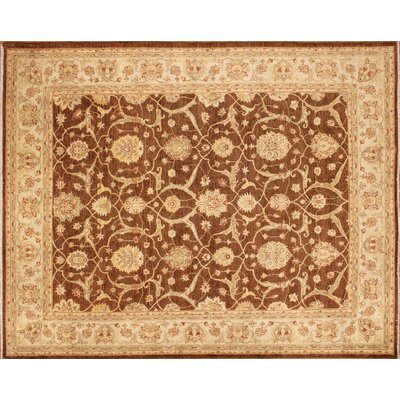 One-of-a-Kind Arthen Hand-Knotted Brown Area Rug