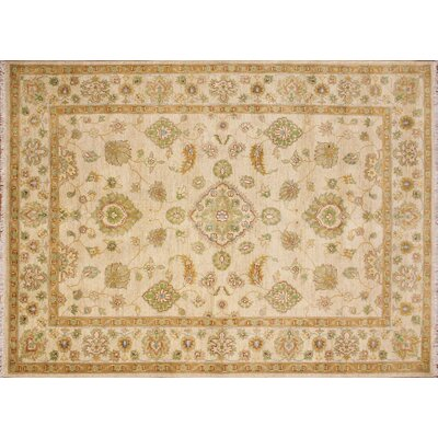 Balochi Macy Hand-Knotted Ivory Area Rug