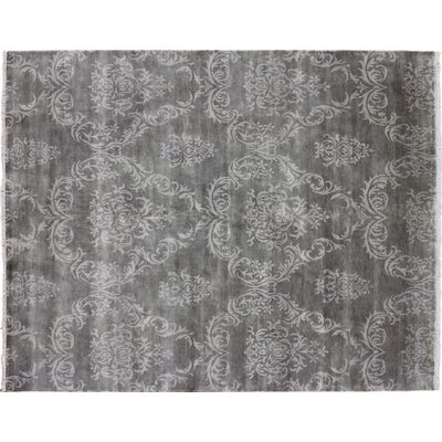 Bellview Oriental Hand-Knotted Rectangle Wool Green Area Rug