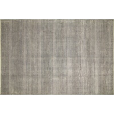 One-of-a-Kind Grass Fine Amina Hand-Knotted Gray Area Rug