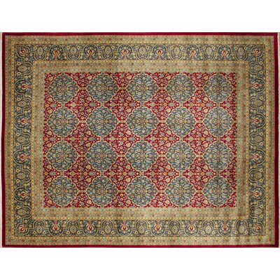 Arthen Hand-Knotted Red Area Rug