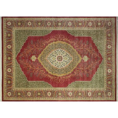 Ankara Mikenn Hand Knotted Wool Rust Area Rug Rug Size: Rectangle 10 x 141