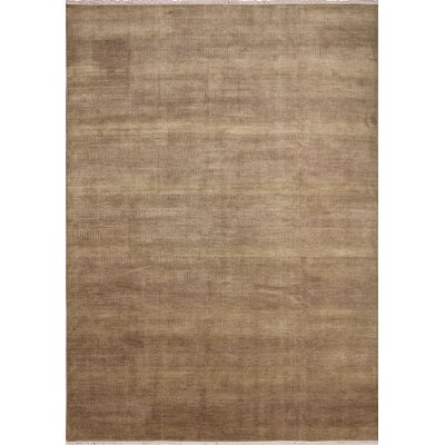 One-of-a-Kind Grass Fine Huntley Hand-Knotted Brown Area Rug