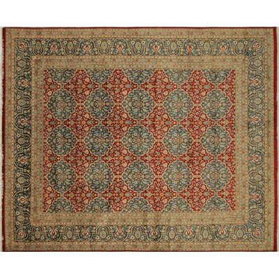Arthen Hand-Knotted Rectangle Red Premium Wool Area Rug