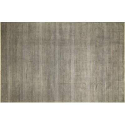 Grass Fine Holmes Hand-Knotted Green/Gray Area Rug