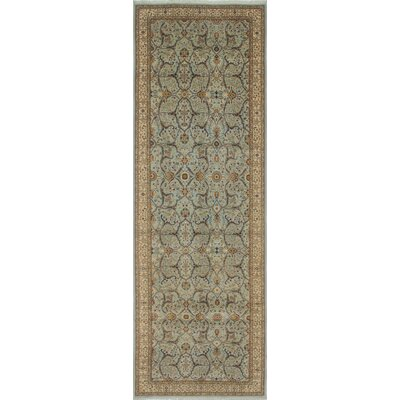 Arthen Hand-Knotted Green/Blue Area Rug