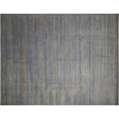 Grass Fine Kazam Hand-Knotted Gray Area Rug
