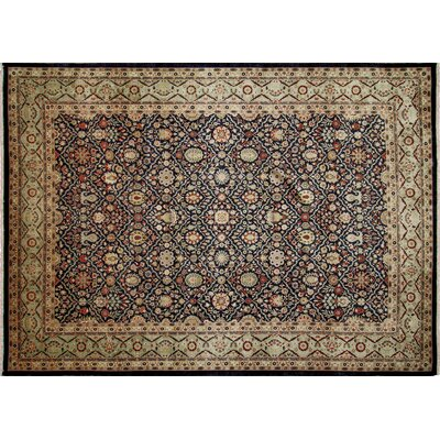 Arthen Hand-Knotted Black Area Rug