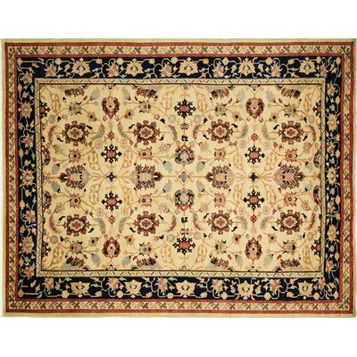 One-of-a-Kind Arthen Hand-Knotted Rectangle Gold Area Rug