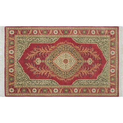 Arthen Hand-Knotted Rectangle Rust Area Rug