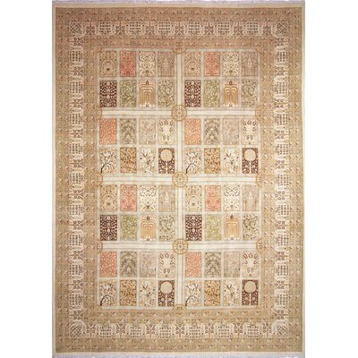 Arthen Hand-Knotted Beige Area Rug