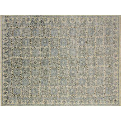 One-of-a-Kind Bellview Floral Hand-Knotted Rectangle Wool Ivory Area Rug