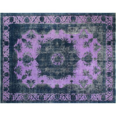 One-of-a-Kind Distressed Nagima Hand-Knotted Blue Area Rug