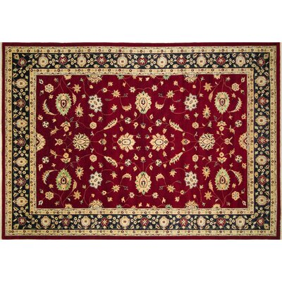 Arthen Hand-Knotted Red Premium Wool Area Rug
