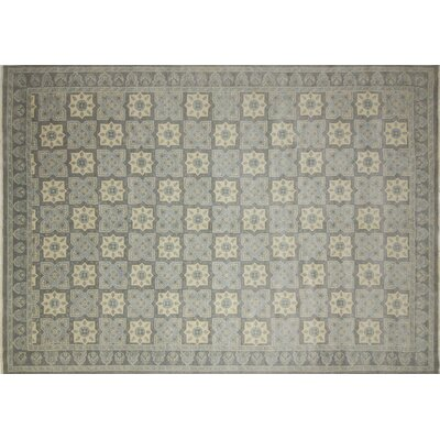 Bellview Oriental Hand-Knotted Wool Gray Area Rug