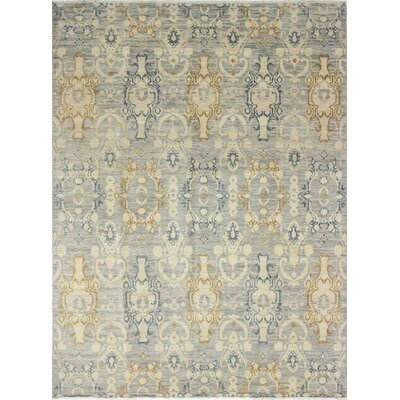 Bellview Rectangle Hand-Knotted Oriental Gray Area Rug