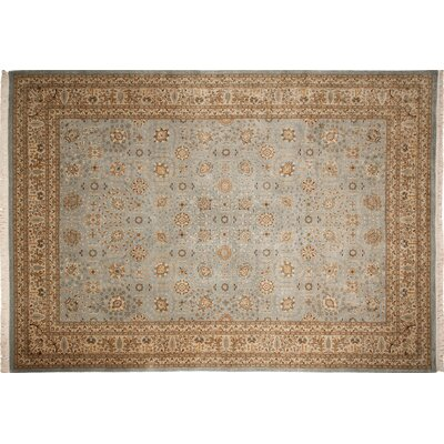 One-of-a-Kind Arthen Hand-Knotted Light Blue Indoor Area Rug