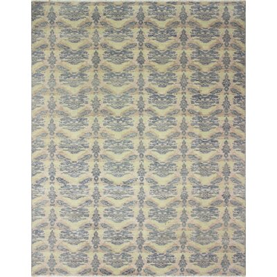 Oushak Fine Hafsa Hand-Knotted Green Area Rug