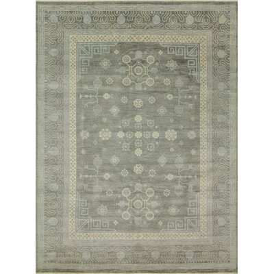 One-of-a-Kind Bellview Hand-Knotted Charcoal Area Rug