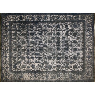 One-of-a-Kind Distressed Lilyana Hand-Knotted Blue Area Rug