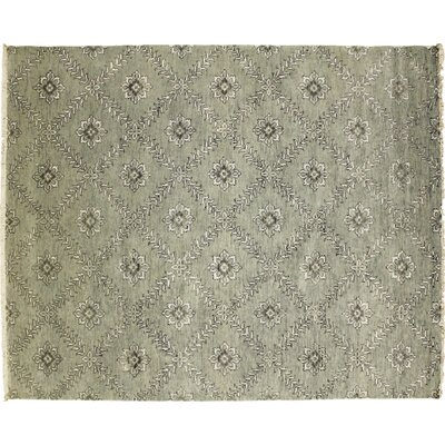 Oushak Fine Latifa Hand-Knotted Light Green Area Rug