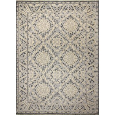 Oushak Fine Heath Hand-Knotted Gray Area Rug