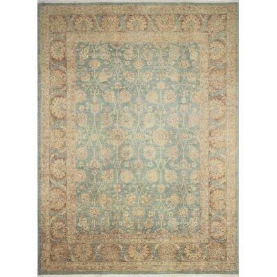 One-of-a-Kind Leann Faded Hand-Knotted Blue/Green Area Rug