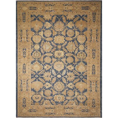One-of-a-Kind Leann Faded Hand-Knotted Blue Area Rug