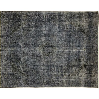 One-of-a-Kind Distressed Ziba Hand-Knotted Blue Area Rug