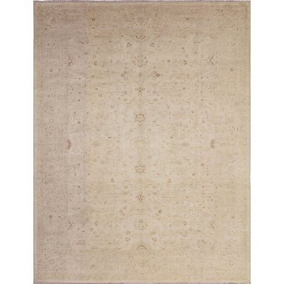 One-of-a-Kind Leann Faded Hand-Knotted Rectangle Ivory Area Rug