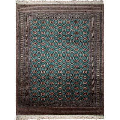 One-of-a-Kind Bokara Fine Asiya Hand-Knotted Green Area Rug