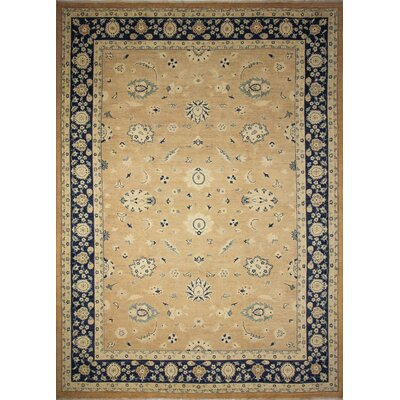 One-of-a-Kind Peshawar Faded Aadil  Hand-Knotted Rust Area Rug
