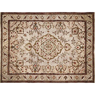 One-of-a-Kind Distressed Rylee Hand-Knotted Red Area Rug