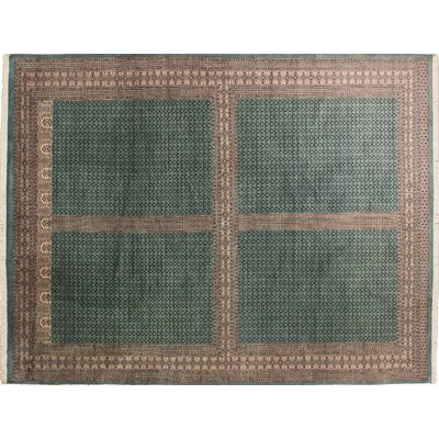 One-of-a-Kind Bokara Fine Casper Hand-Knotted Green Area Rug
