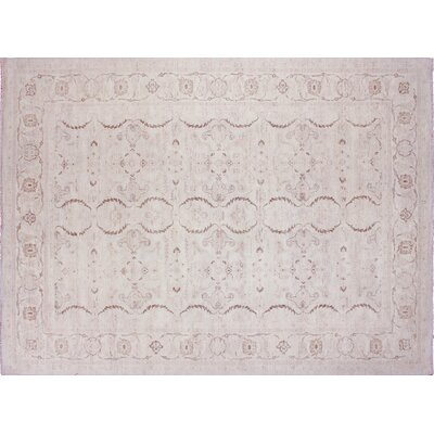 One-of-a-Kind Leann Faded Hand-Knotted Ivory Area Rug