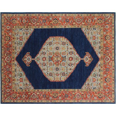 One-of-a-Kind Chobi Fine Asfar Hand-Knotted Blue Area Rug