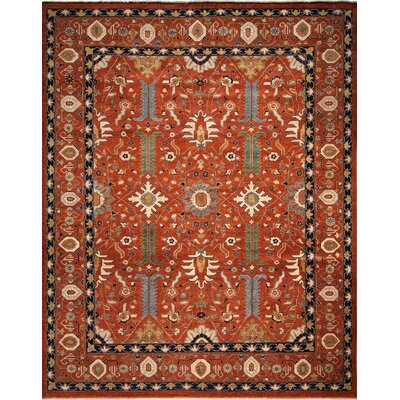 One-of-a-Kind Chobi Fine Tahir Hand-Knotted Rust Area Rug