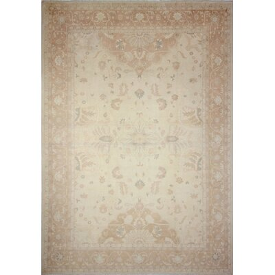 Leann Faded Hand-Knotted Ivory Indoor Area Rug