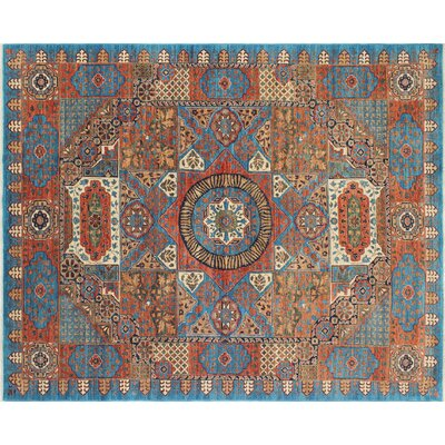 One-of-a-Kind Chobi Fine Nazgul Hand-Knotted Blue Area Rug