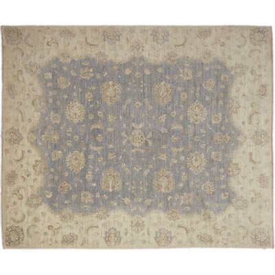 One-of-a-Kind Chobi Fine Sanaa Hand-Knotted Gray Area Rug