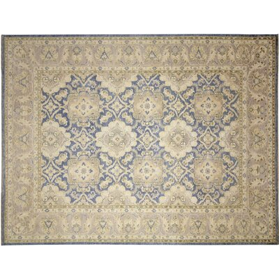 Leann Faded Hand-Knotted Blue Indoor Area Rug