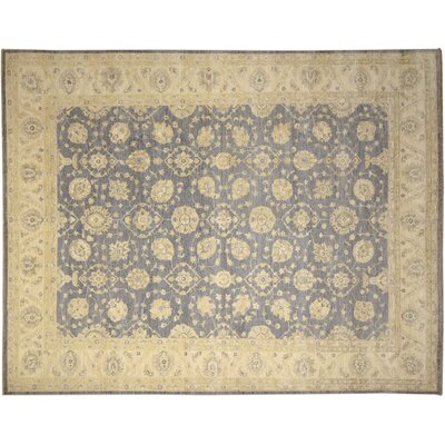 One-of-a-Kind Leann Faded Hand-Knotted Light Blue Area Rug