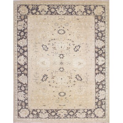 One-of-a-Kind Leann Faded Hand-Knotted Beige Area Rug
