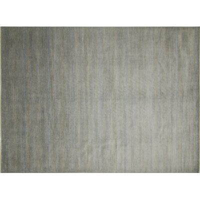 Grass Fine Siddharth Hand-Knotted Gray Area Rug