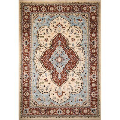 One-of-a-Kind Chobi Fine Dilshod Hand-Knotted Ivory Area Rug