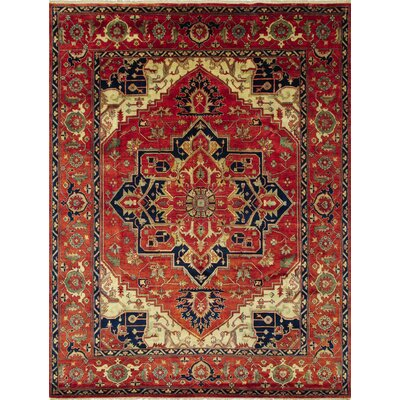 Heriz Fine Quralai Hand-Knotted Rust Area Rug
