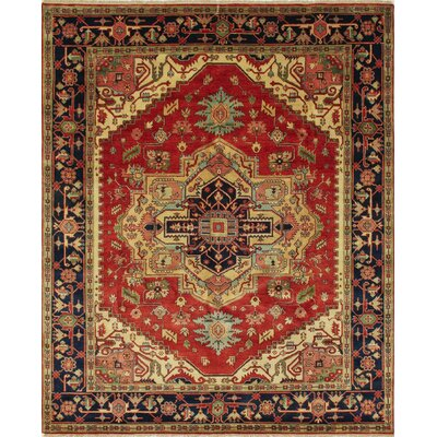One-of-a-Kind Heriz Fine Qymbat Hand-Knotted Rust Area Rug