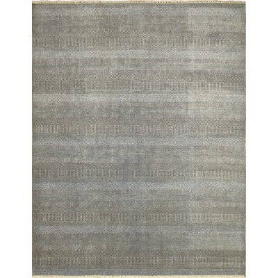 Grass Fine Paradise Hand-Knotted Green/Gray Area Rug