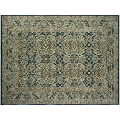 One-of-a-Kind Chobi Fine Alman Hand-Knotted Green/Gray Area Rug